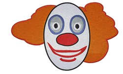 Clown Face embroidery design