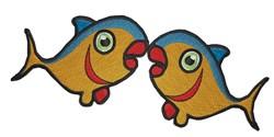 Tuna Kissing embroidery design