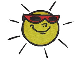 Sun With Sunglasses embroidery design
