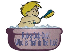 Rub A Dub Dub embroidery design