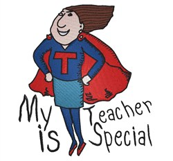 Teacher Is Special embroidery design