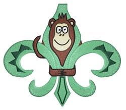 Fleur De Monkey embroidery design