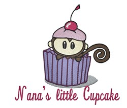 Nanas Little Cupcake embroidery design