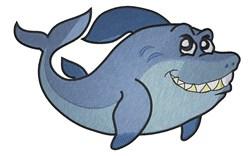 Big Shark embroidery design
