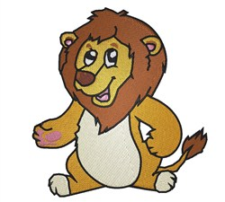 Sitting Lion embroidery design