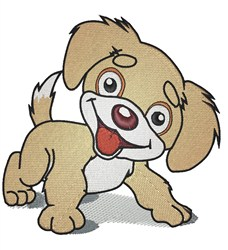 Smiling Puppy embroidery design