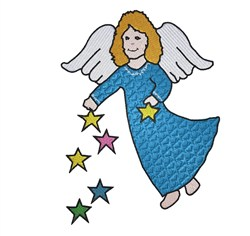 Angel With Stars embroidery design
