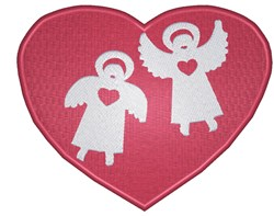 Heart Angels embroidery design