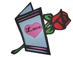 Love Card embroidery design