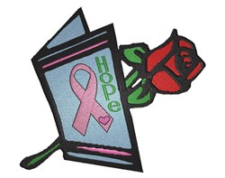 Cancer Ribbon Card embroidery design