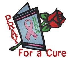 Pray For Cure embroidery design