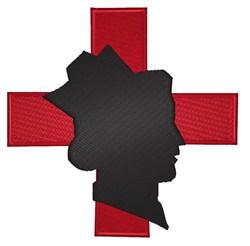Nurse With Cross embroidery design