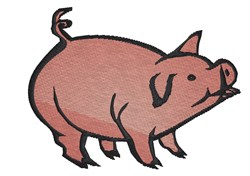 Squealing Pig embroidery design