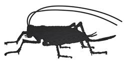 Cricket Silhouette embroidery design