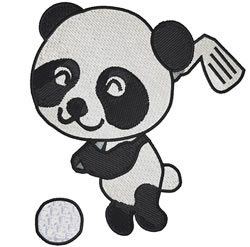 Golf Panda embroidery design
