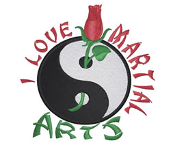 Love Martial Arts embroidery design
