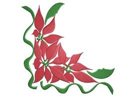Poinsettia Corner embroidery design