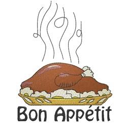 Bon Appétit embroidery design