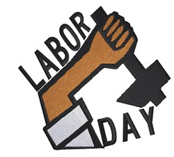Labor Day embroidery design