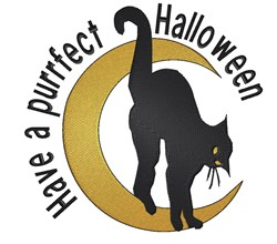 Purrfect Halloween embroidery design
