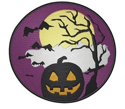 Halloween Scene embroidery design