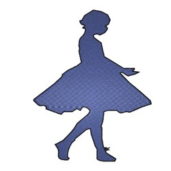 Girl Dancer embroidery design