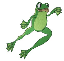 Leaping Frog embroidery design