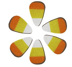Candy Corn Flower embroidery design