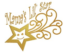Mamas Lil Star embroidery design
