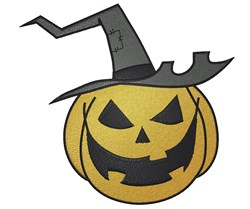 Pumpkin Witch embroidery design