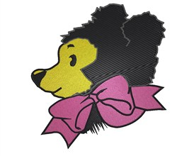 Bear With Bow embroidery design