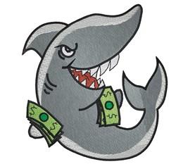 Loan shark embroidery design