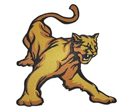 Raging Cougar embroidery design