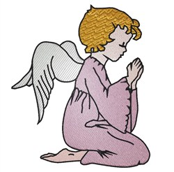 Angel Praying embroidery design