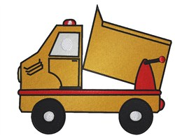 Toy Dump Truck embroidery design