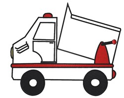 Dump Truck Outline embroidery design