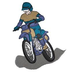 Motorbike Rider embroidery design