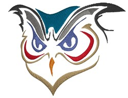 Owl Head embroidery design