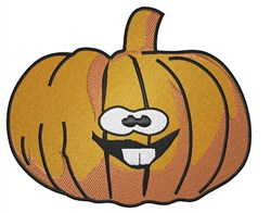 Buck Tooth Pumpkin embroidery design