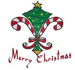 Christmas Fleur De Lis embroidery design
