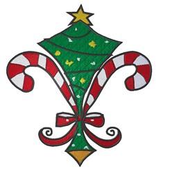 Christmas Fleur embroidery design