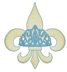 Fleur De Lis Crown embroidery design
