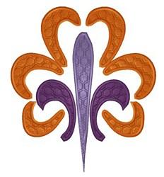 Honey Comb Fleur embroidery design