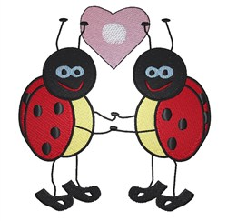 Ladybugs In Love embroidery design