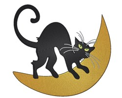 Cat On Moon embroidery design