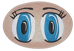 Eyes embroidery design