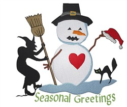 Seasonal Greetings embroidery design