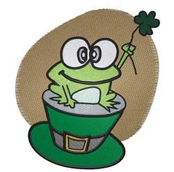St Patricks Frog embroidery design