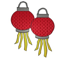 Chinese Lanterns embroidery design