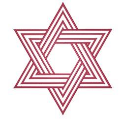 Jewish Star embroidery design